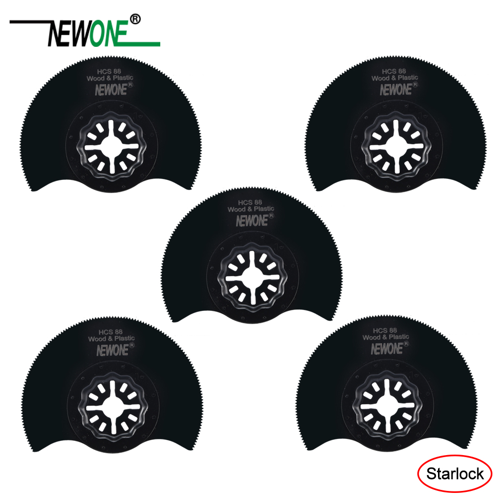 NEWONE 88mm HCS Flush Segment Starlock Saw Blades For Starlock System Oscillating Multi-Tools Electric Trimmer Cutting Wood