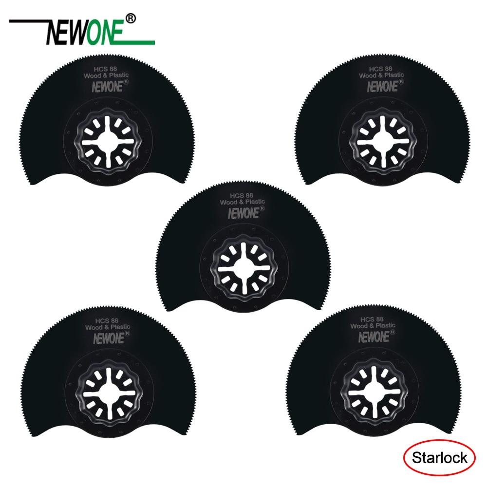 NEWONE 88mm HCS Flush Segment Starlock Saw Blades For Starlock System Oscillating Multi-Tools Electric Trimmer Cutting Wood