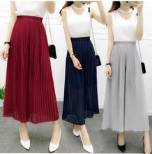 Wide legged pants new chiffon pants pleated tall w
