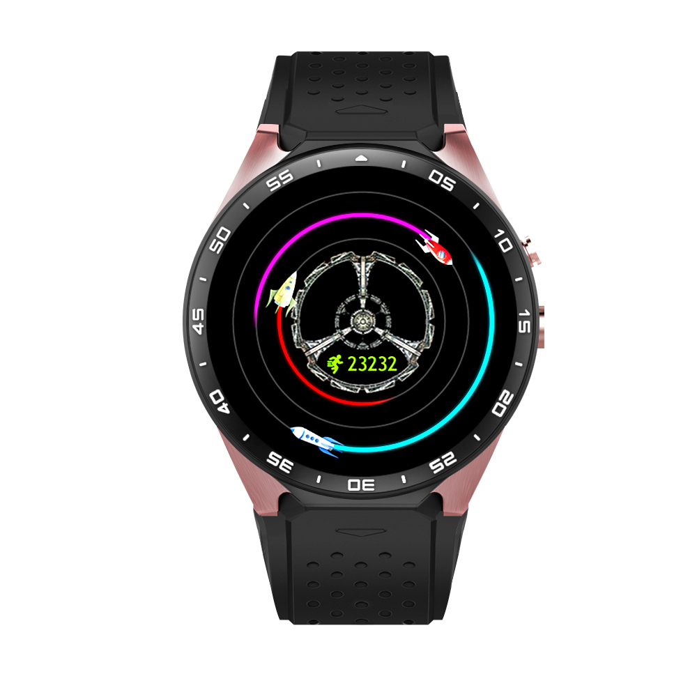 Original KW88 3G WIFI GPS Smart Watch Android 5.1 OS MTK6580 CPU 1.39 inch Screen 2.0MP Camera Smartwatch For apple moto huawei