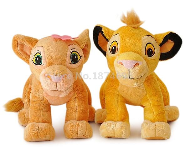 2pcs The Lion King Simba And Nala Plush Toy 14 35cm Cute Stuffed