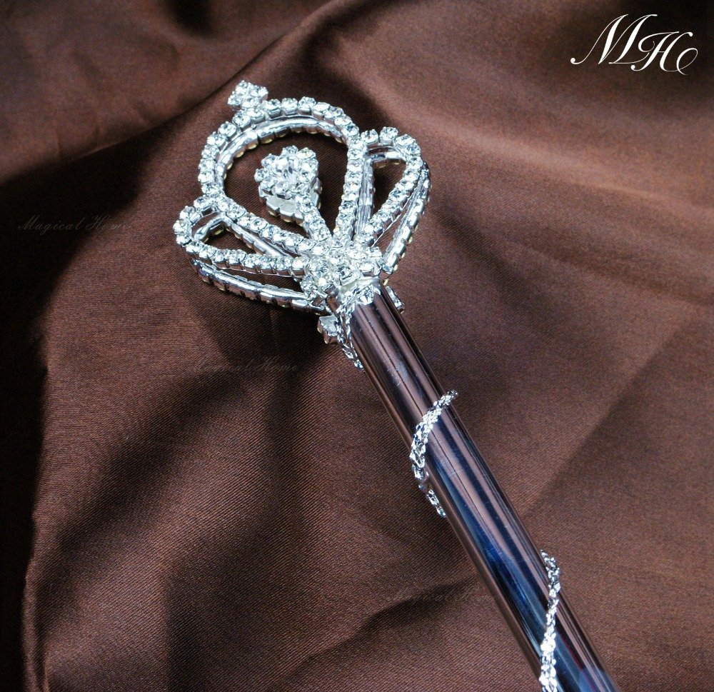 Royal crown style scepter scepter wand rhinestone beauty for Beauty wand