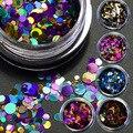 12 cajas/set color de lujo caliente mezclado mini redondo fino Manicura Glitter paillette uñas lentejuelas decoración del polaco del gel manicura herramientas