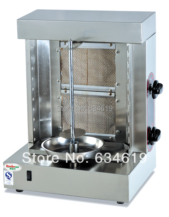 High quality LPG gas BBQ rotary doner shawarma machine, two(2) burners propane kebab machine, gas vertical gryos boiler 220-240v