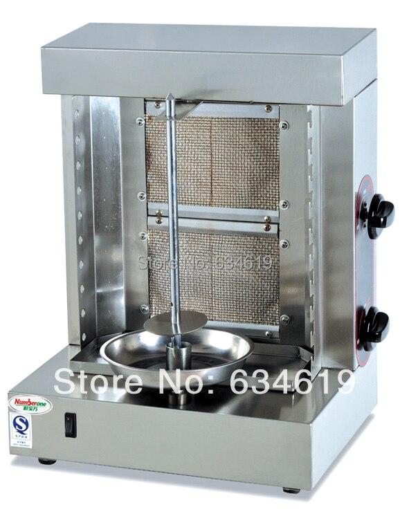 고품질 LPG 가스 바베큐 로터리 doner shawarma 기계, 두 버너 프로판 케밥 기계, 가스 수직 gryos 보일러 220-240 볼트