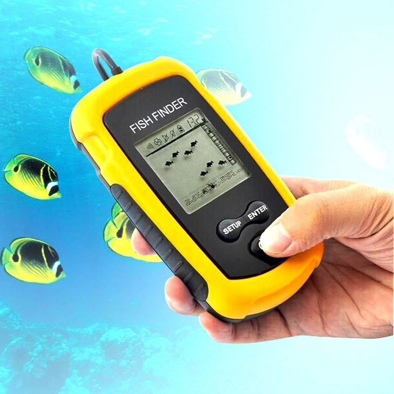 Hot sale portable fishing sonar fish finder 100m fishing for Fish finders on sale