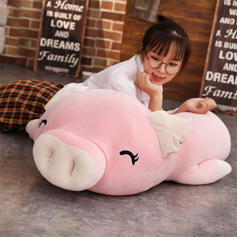 kawaii cartoon pig plush toy doll big stufefed fat pink pigs dolls sleeping pillow for children girls gift 43inch 110cm DY50445 (4)