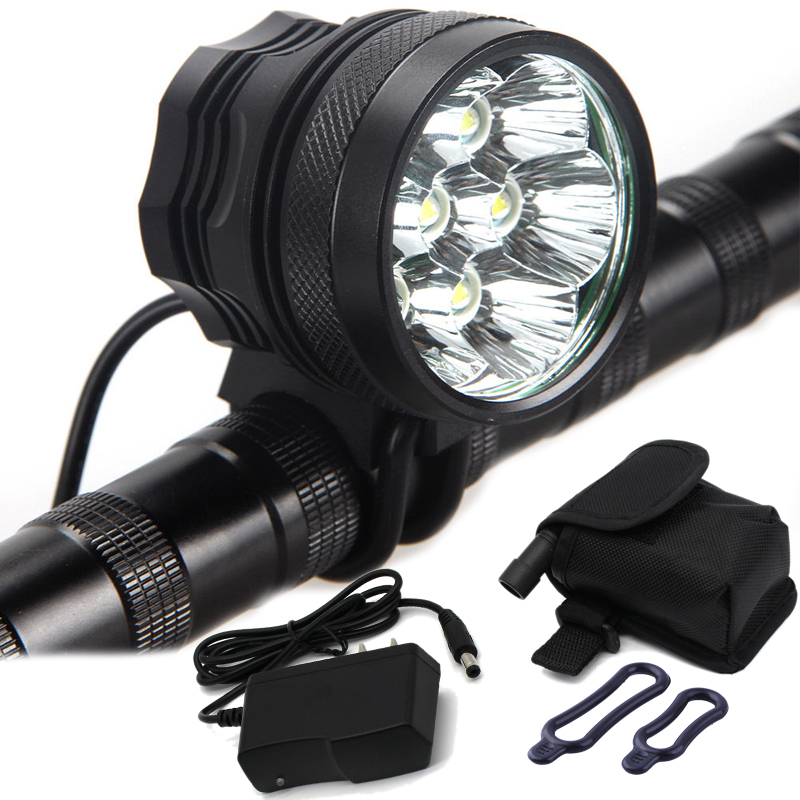 12000 Lumens Bike Light 7x XM-L T6 Front Bicycle Light Rechargeable Cycling Headlight Mountain Bike Lamp With 18650 Battery Pack встраиваемый светильник arte lamp raggio a4018pl 1wh