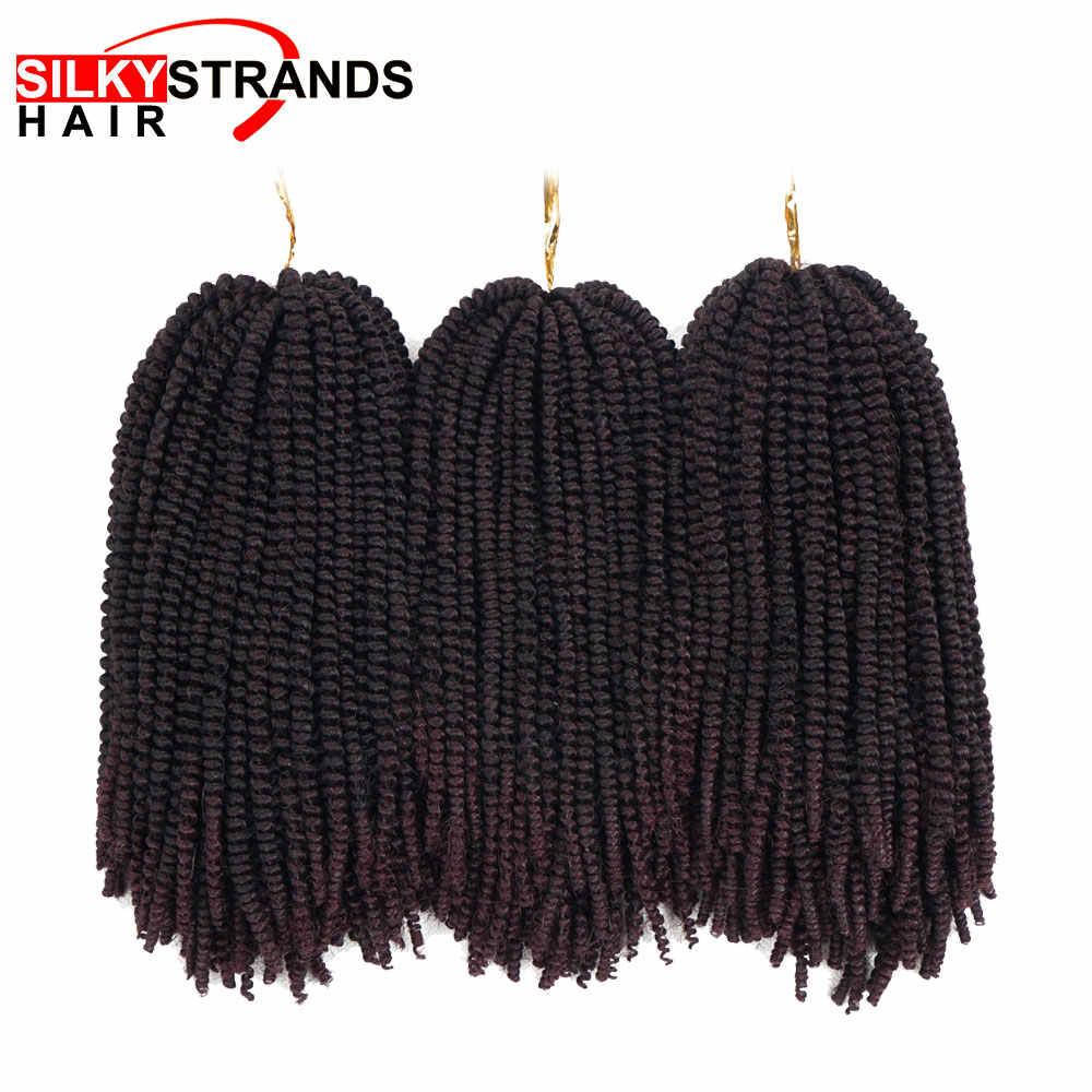 8 дюймов 50 нитей Nubian твист вязанные пряди Омбре Синтетические плетение бомба твист наращивание волос для пушистых твист шелковистые пряди
