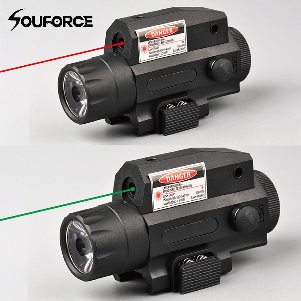 אדום/ירוק לייזר Sight LED חזק טקטי פנס בשחור לדחוף כפתור מתג + זנב עבור חיצוני צבאי ציד יריlaser sightgreen laser sightlaser sight flashlight -