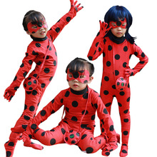 lady bug girl halloween costume for kids costumes children spandex miraculous ladybug romper fancy dress halloween costume