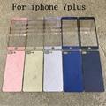 """Para Iphone7 Plus de Color Mate Efecto 3D Protector de Pantalla de Cristal de Cine para el iphone 7 Plus 5.5 """"espejo de la Galjanoplastia Película de Pantalla de Cristal"""
