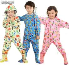 KTLPARTY Дети дождевик с мультгероями Детский комбинезон дождевик для детей для маленьких мальчиков и девочек непромокаемое пончо звезда дождевик