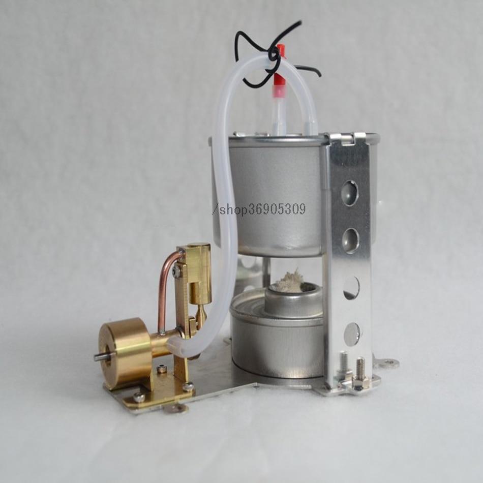 Single-cylinder shaft ventilation steam engine model kit * with boiler * send alcohol lamp * creative gifts