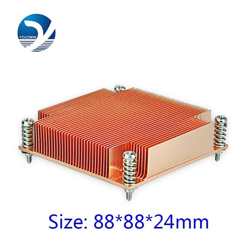 Dzesēšanas šķidruma dators 1U pasīvais risinājums Zobu skrūves un atsperes funkcijas radiators C7-10