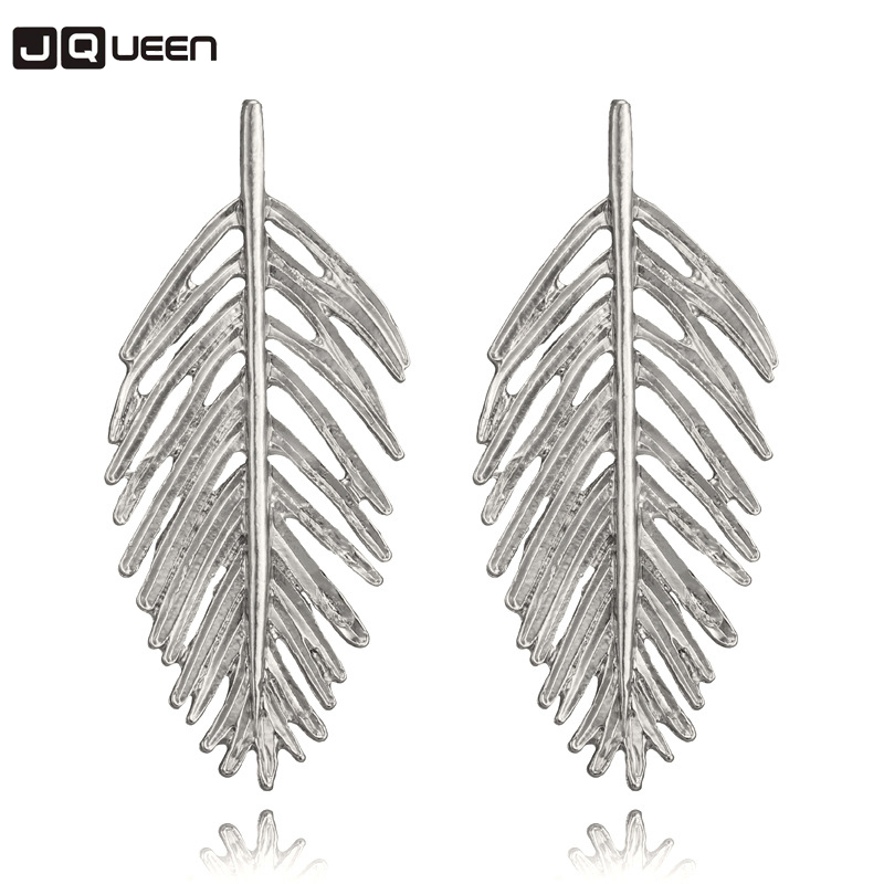 2018 Fashion Metal Leaf Drop Earrings Jewelry Hot Sale Statement Vintage Earrings for Women