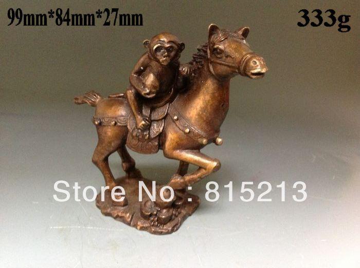 wang 00095 Chinese Bronze Statues w Monkey&Horse a monkey monkey monkey statue monkey horse - title=