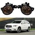 Para INFINITI G37 Coupe QX60 JX35 M35 M45 2008-2015 Carro estilo amortecedor dianteiro Faróis de neblina LED alto brilho faróis de nevoeiro 1 conjunto