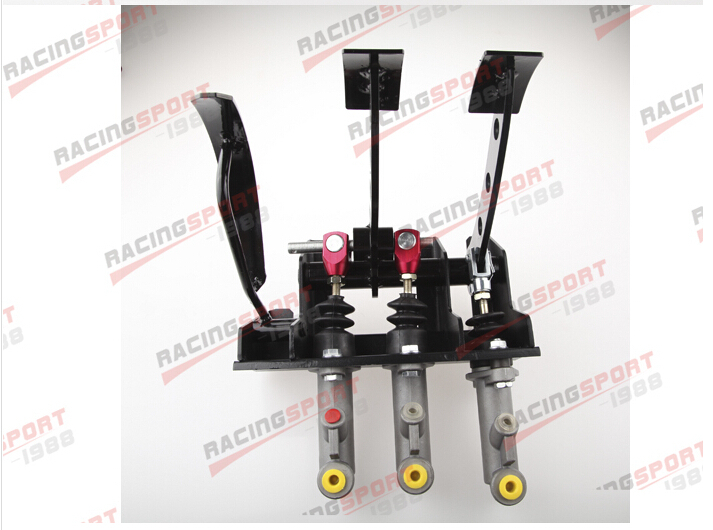 Race Rally Hydraulic Clutch Brake Bias Pedal Box mofe products high quality special offer master cylinder 0 75 hydraulic clutch brake bias floor mounted pedal box kit