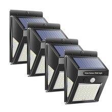 4 шт. уличный светильник ing светодиодный светильник на солнечной энергии PIR датчик движения настенный светильник на открытом воздухе водонепроницаемый энергосберегающий уличный садовый двор