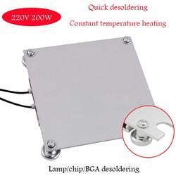 Lâmpada led grânulo desoldering estação pré-aquecimento placa para placa de aquecimento lcd lâmpada tira desoldering bga chip reparação termostato calor