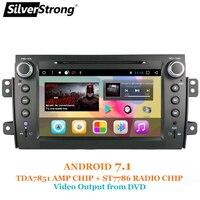 SilverStrong 8 дюймов 2Din Android7.1 радио автомобильный DVD для SUZUKI SX4 MP4 MP3 радио Навител gps Navi