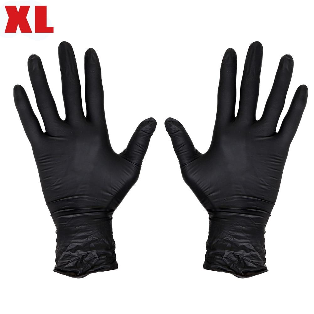 Black latex gloves xl - Top Quality Authorized Black Disposable Nitrile Tattoo Gloves Powder Free Ambidextrous Latex Free Exam Grade Xl