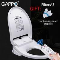 GAPPO Toilet Seats elongated bidets lid cover heated sit smart bidet toilet seats intelligent clean dry toilet cover