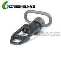 Greenbase tático liberação rápida sling swivel 1.25 sling sling sling loop de aço montagem adaptador sling acessórios caça produtos|quick release sling|sling swivel|hunting products -