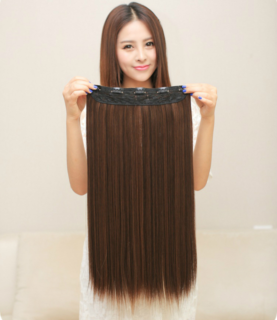 5 Clips In Hair Extensions High Quality Blonde Black Brown Synthetic