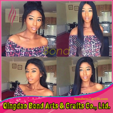 Straight Remy Virgin Human Hair Wig Black Lace Wig Lace Front/Full Lace Wig Remy Brazilian 130% density