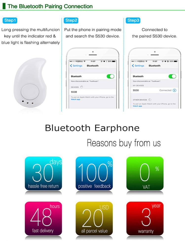 Mini Bluetooth Stereo Headset Wireless Headphones bluetooth Earphone with Microphone Car Call Handsfree Headphone for xiaomi (17)