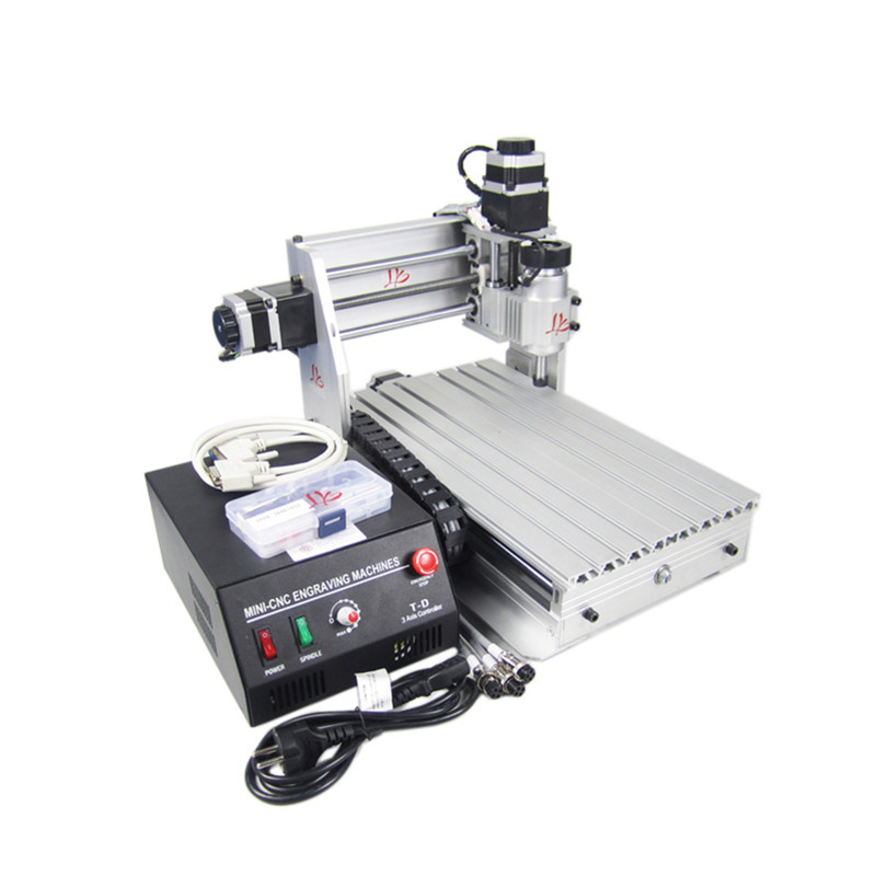 mini CNC router 3020 T-DJ CNC engraving machine with black control box for wood pcb plastic carving and milling cnc 1610 with er11 diy cnc engraving machine mini pcb milling machine wood carving machine cnc router cnc1610 best toys gifts