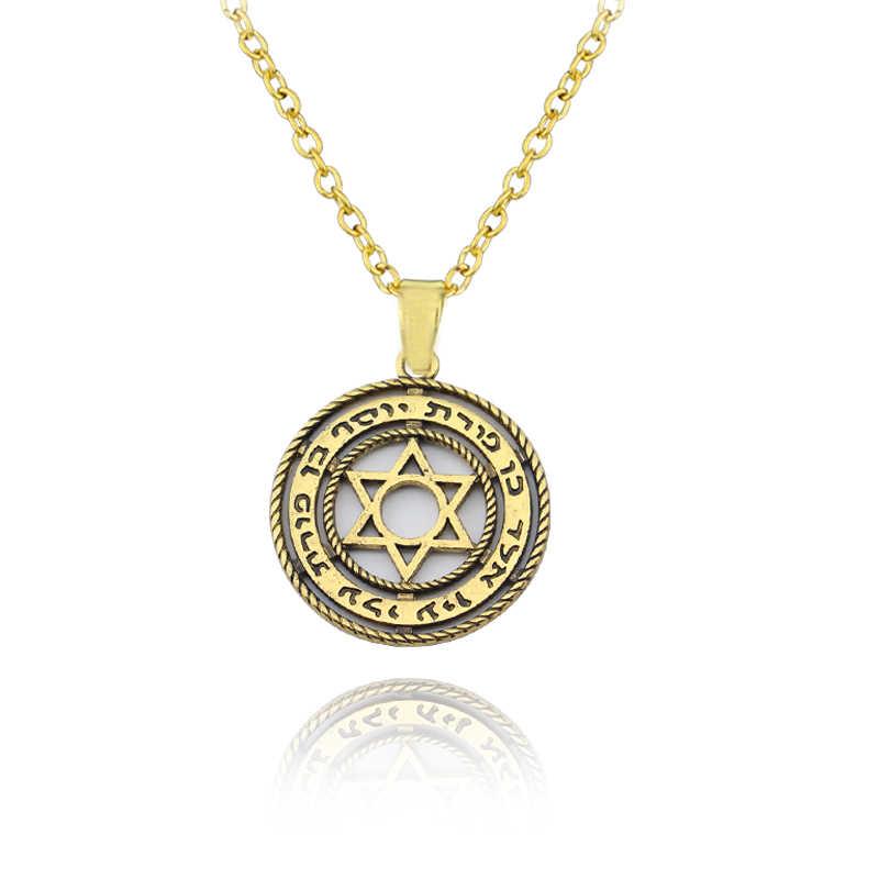 Mijn Vorm Antieke Tetragrammaton Pentagram Pentagram Hanger Charm Ketting Wiccan Talisman Pagen Amulet Sieraden Groothandel