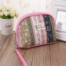 Cosmetic Bags Flower Print Dumpling Large Makeup Bag Women Packages Nylon Make Up Bag Wash Organizer bag ACB592