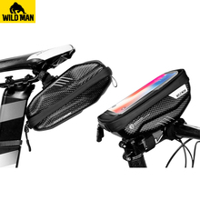 Rainproof Bicycle Top Tube Handlebar phone Bag Touchscreen Cell Phone Bag Hard Shell Bike Front Frame Bag Tool Tail Saddle Bag ring front saddle bag