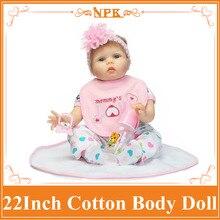 Big Eyes Adora Silicone Baby Doll With Pink Rose Hair Band Lifelike Reborn Infant Smart Choice Boneca Bebe Reborn As Playmate