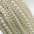 """Comercio al por mayor 15 """"Ronda Suelto Perlas de Agua Dulce Naturales 5mm 4mm 6mm 8mm para La Joyería Que Hace collar de la Pulsera"""