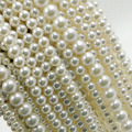 "Wholesale 15"" Round  Loose Natural Freshwater Pearl Beads 5mm 4mm 6mm 8mm for Jewelry Making Necklace Bracelet"