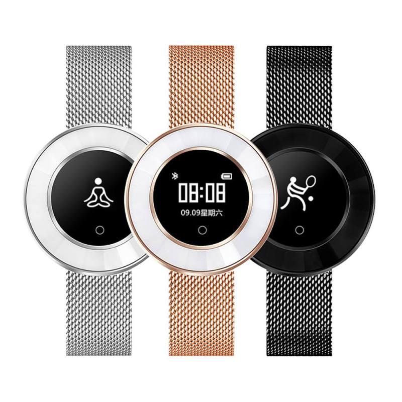 Montre intelligente femmes IP68 étanche surveillance de la fréquence cardiaque pression artérielle dame Smartwatch Fitness Tracker Bracelet - 3