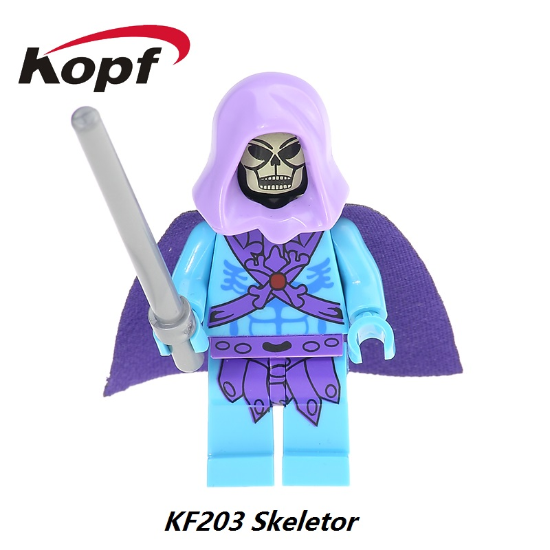 Super Heroes Rare Motu Masters of the Universe Vintage Faker Skeletor He-Man Action Figures Building Blocks Children Toys KF203 masters of the universe