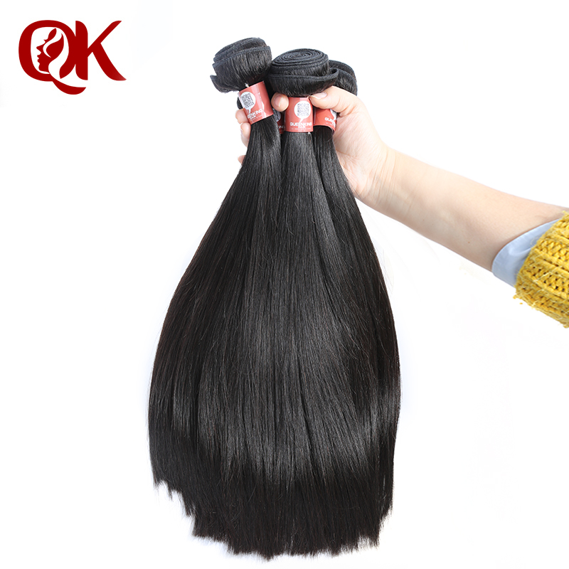 QueenKing font b Hair b font Peruvian Remy font b Hair b font Silky Straight Natural