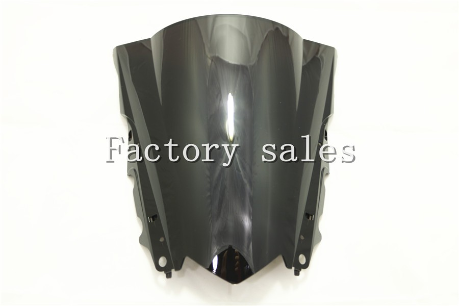 For Yamaha YZF R3 R25 2012 2013 2014 2015 2016 Black Windshield WindScreen Double Bubble 13 14 15 16 R 25 3