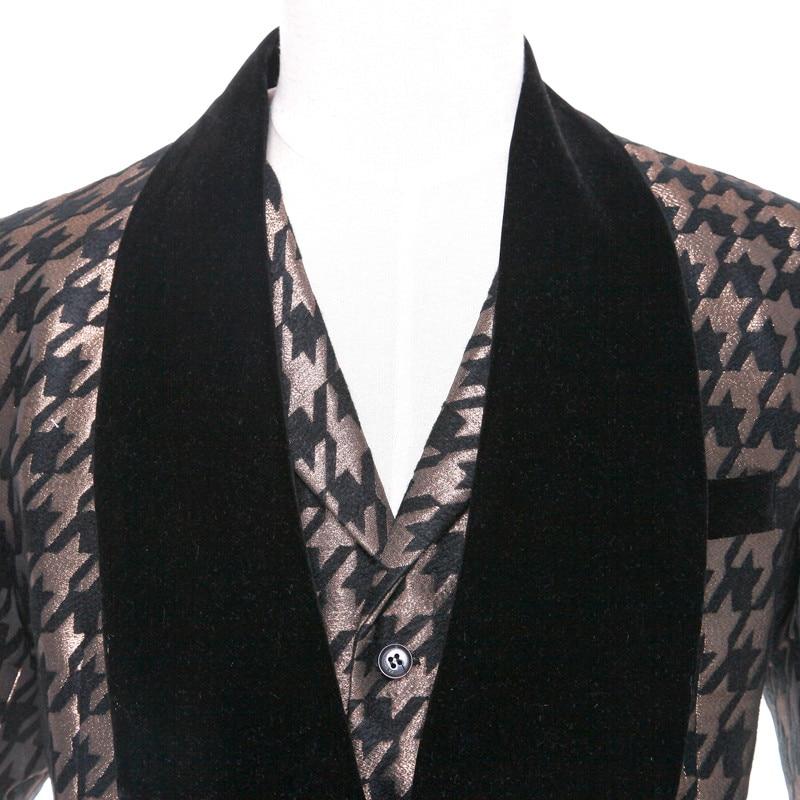 Custom Made Men Wedding Suit Fashion classic black bronze gold ...