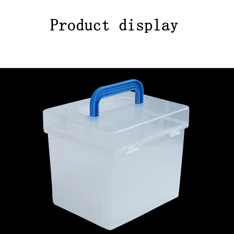 Transparent 80-Slots Portable Waterproof Markers Pens Storage Case For Mark Office Desk Organizer