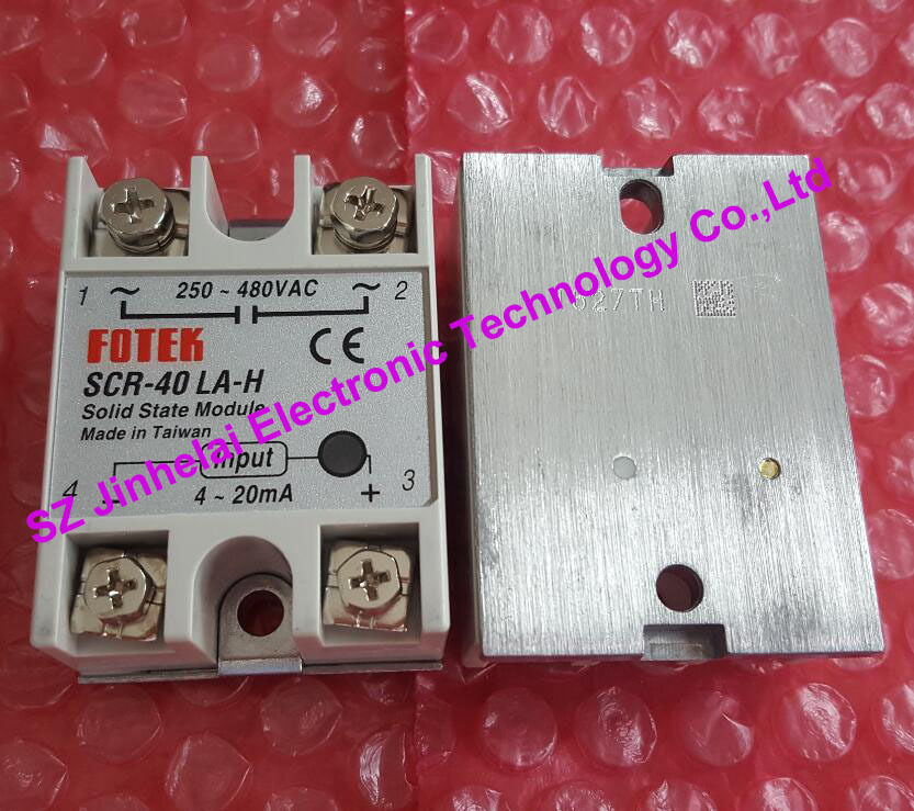 100% New and original  SCR-40LA-H  FOTEK SOLID STATE RELAY  250-480VAC,4-20mA