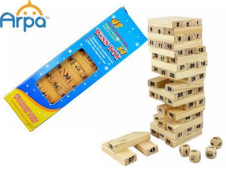Tower Building Blocks Set