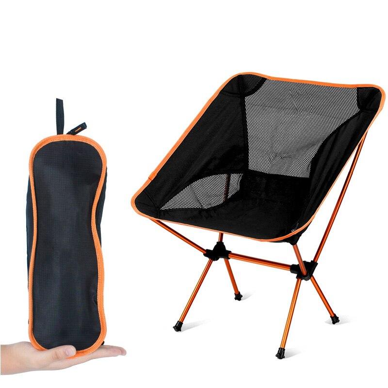 Chair Fishing Hiking-Seat Folding Ultralight Home-Furniture Garden Portable Camping Bbq-Stool