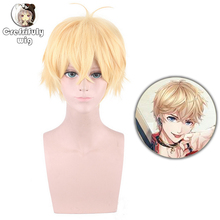 цена на Kakihara Tetsuya Light Golden Short Cosplay Costume Wig Men Synthetic Hair Halloween Costume Party Wigs Free Shipping