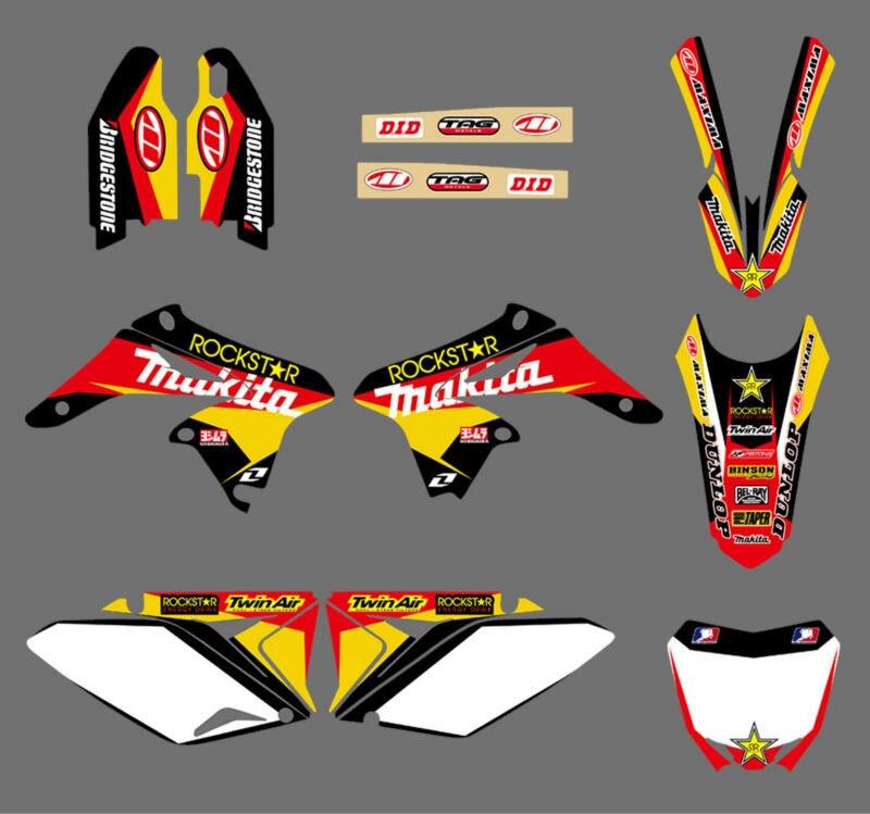 0045 Nouvelle ÉQUIPE GRAPHICS & MILIEUX DÉCALQUES voiture Kits pour Suzuki RMZ250 RMZ 250 2010 2011 2012